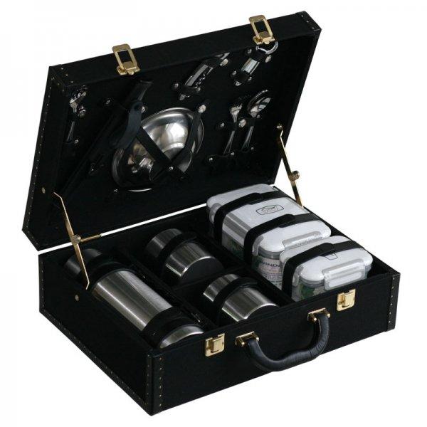 Набор посуды для поездок «Авто-Комфорт» (2 персоны) ткань черный Аксо 414АТ2-ЧЕР
