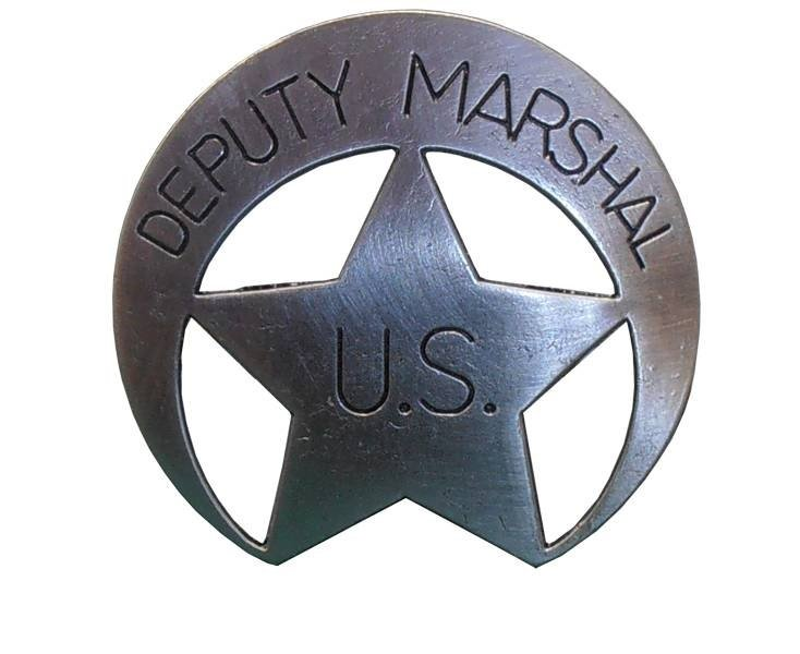 """Бэйдж помощника маршала """"Служба федеральных маршалов США, 19 век"""" Denix DE-109"""