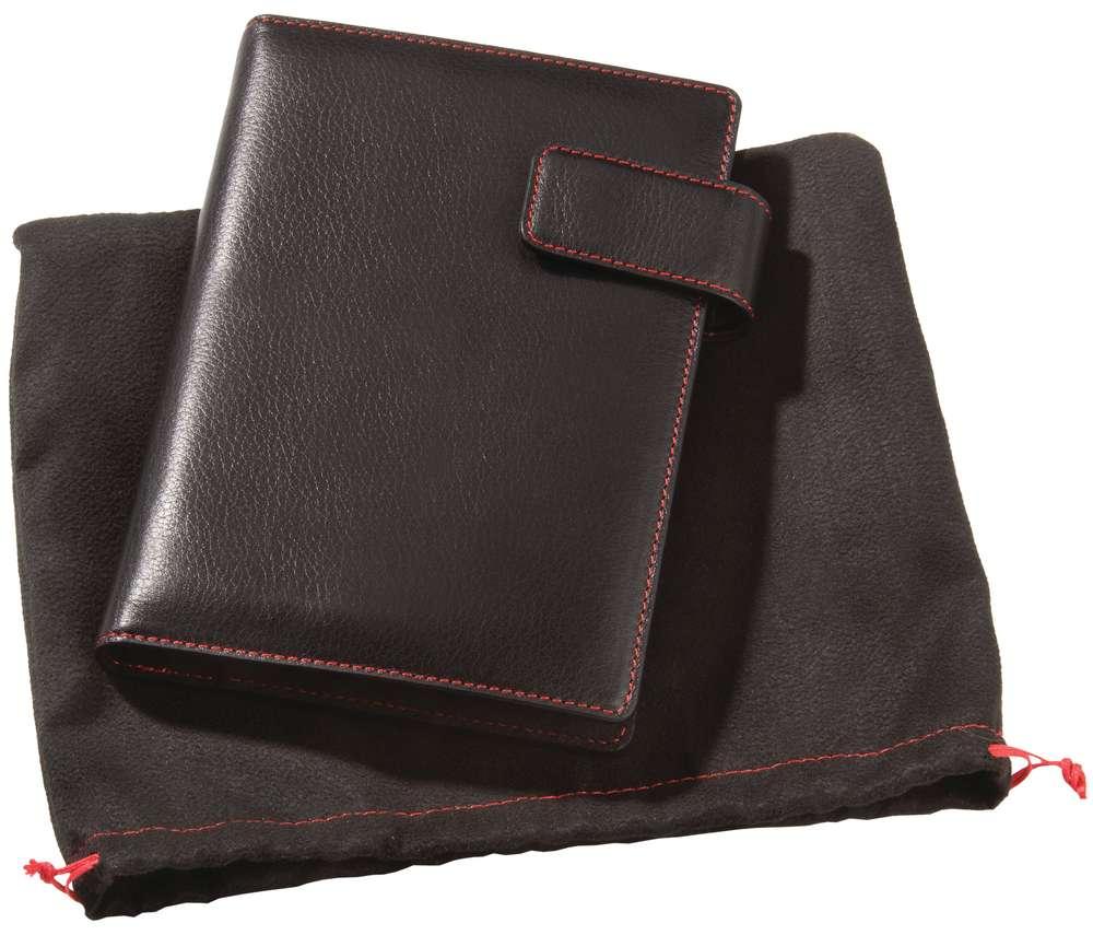 Блокнот Viaggi, черный с красной отделкой Matteo Tantini 6229