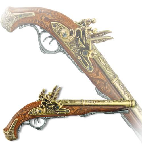 Пистоль двуствольный с ударно-кремнёвым замком, изготовленный для Наполеона в 1806 году Denix DE-1026