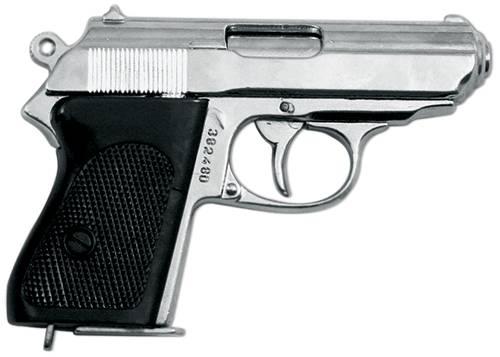 """Пистолет """"Ваффен-SSPPK"""", Германия, хром Denix DE-1277-NQ"""