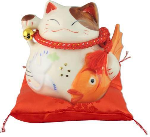 """Японский кот-копилка Манеки-неко """"Долголетие и много денег!"""", белый Pak Lee YC-10514-A"""