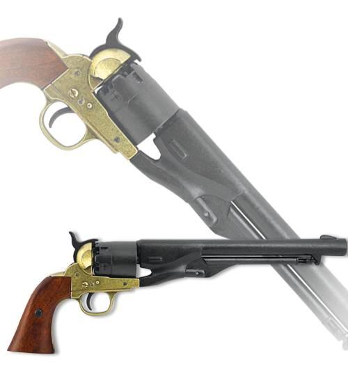 """Револьвер """"Гражданская война"""", США, 1886 г., латунь Denix DE-1007-L"""