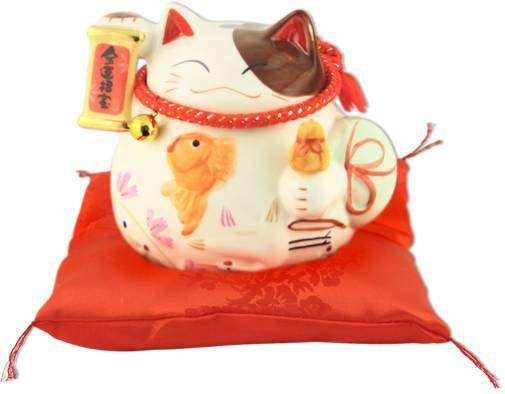 "Японский кот-копилка Манеки-неко ""Бум продаж!"", белый Pak Lee YC-10285-A"