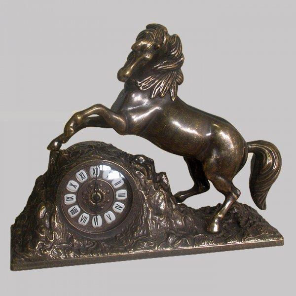 "Часы ""Лошадь"" каминные Alberti Livio AL-82-106-ANT"