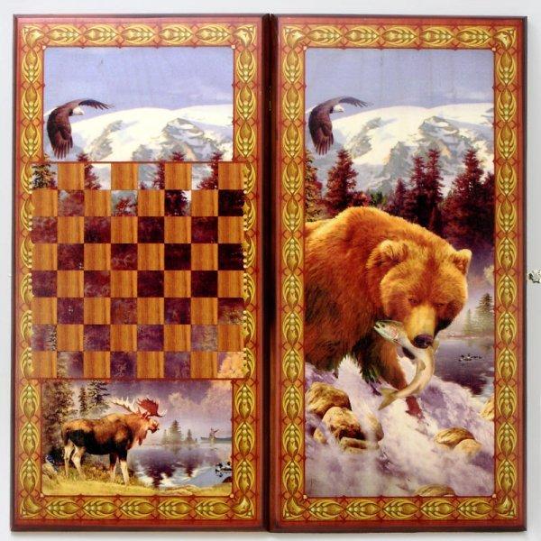"""Нарды """"Медведь"""", 60 x 30 x 3.5 livegifts SA-ME-L"""