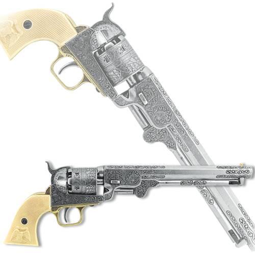 Револьвер США, 1851 г., хром Denix DE-1040-B