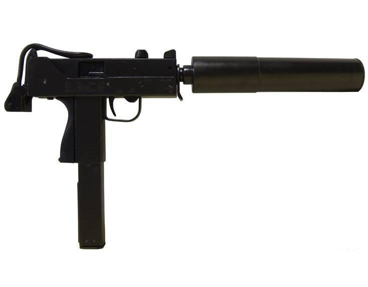 Автоматический пистолет с глушителем МАС-11 Ingram,США 1972 г. Denix DE-1089