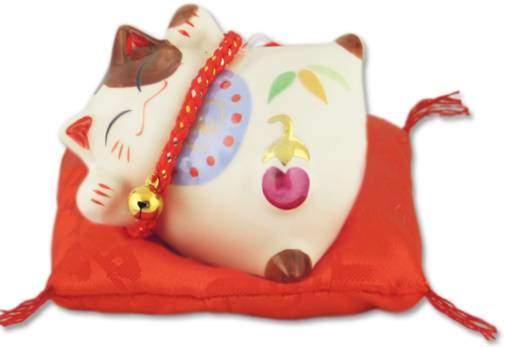 """Японский кот-копилка Манеки-неко """"Благополучие и Здоровья детям!"""", белый Pak Lee YC-10334-A"""