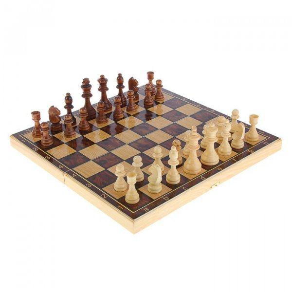 """Подарочный набор игр шахматы нарды, шашки с доской """"Классика"""" SA-SH-014"""