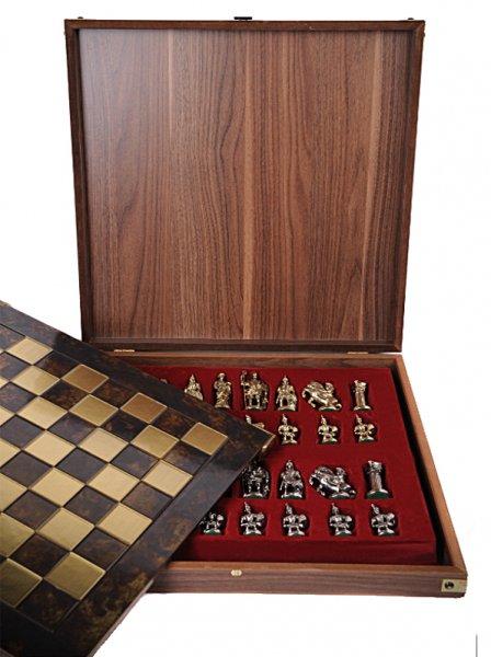 Шахматы с фигурками из металла Античные войны MP-S-15-C-28-B