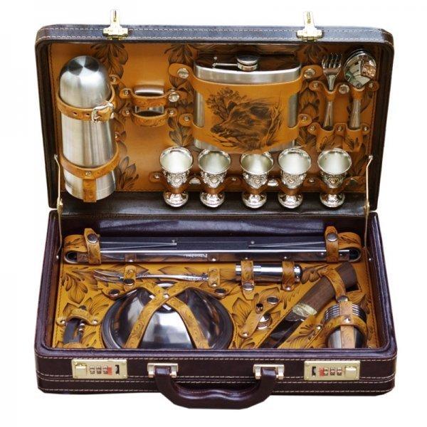 Подарочный набор для пикника «На привале» (5 персон) Аксо 111КИ5
