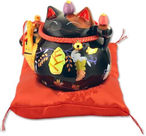 "Японский кот-копилка Манеки-неко ""Защита от злых сил, удача и много клиентов!"", черный Pak Lee YC-10950-A"