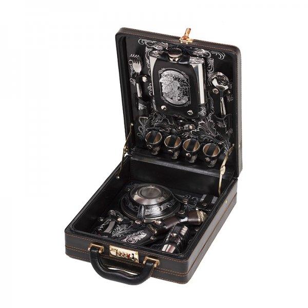 Подарочный набор для пикника «Коньячный» (4 персоны) Аксо 138КИ4