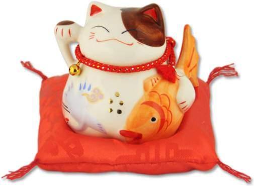 """""""Долголетие и много денег!"""", Японский кот-копилка Манеки-неко, белый Pak Lee 16349"""