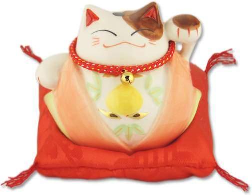 """Японский кот-копилка Манеки-неко """"Удача и Много посетителей!"""" Pak Lee YC-10366-A"""
