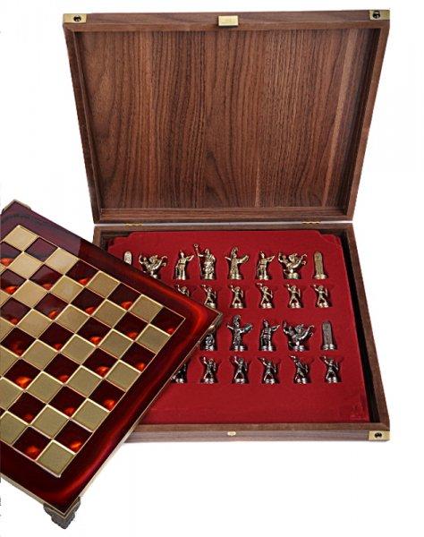 Шахматы подарочные металлические Ренессанс MP-S-9-C-36-R