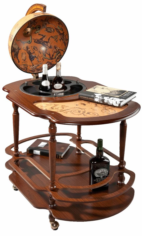 Глобус-бар-столик «Giacinto» на колесиках, большой Zoffoli 56