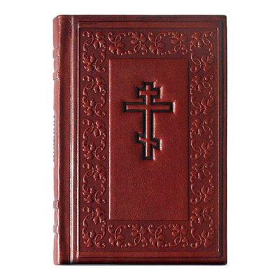 """Книга """"Библия средняя"""" подарочное издание в кожаном переплете livegifts 004"""