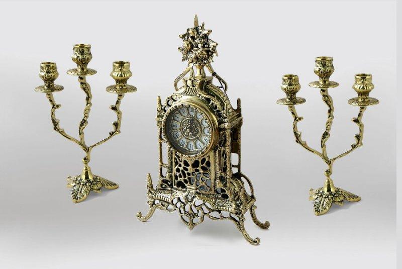 "Каминные часы с канделябрами ""Жарден"" BP-15046"