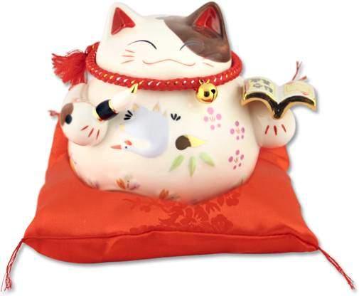 "Японский кот-копилка Манеки-неко ""Волшебная книга желаний!"", белый Pak Lee YC-10777-A"