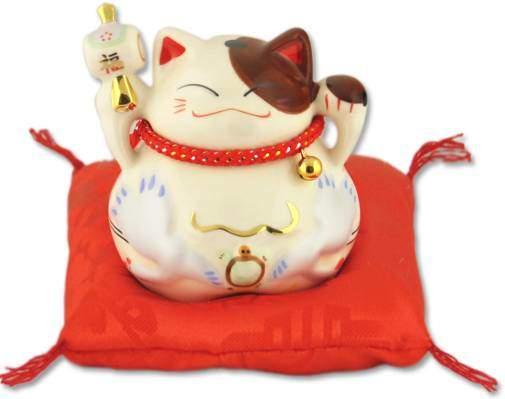 """""""Успех, Благосостояние и много клиентов!"""", Японский кот-копилка Манеки-неко, белый Pak Lee YC-10339-A"""