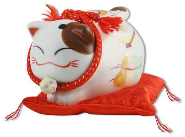 "Японский кот-копилка Манеки-неко ""Фортуна!"", белый Pak Lee YC-10512-A"