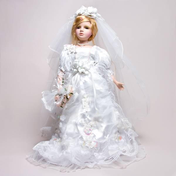 """Кукла -невеста фарфоровая """"Пэгги"""", 46 см Polly Dolls YF-184095"""