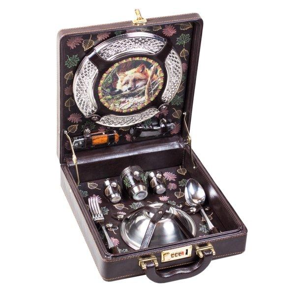 Подарочный набор для пикника «Лисица» (4 персоны) Аксо 144ИИ4