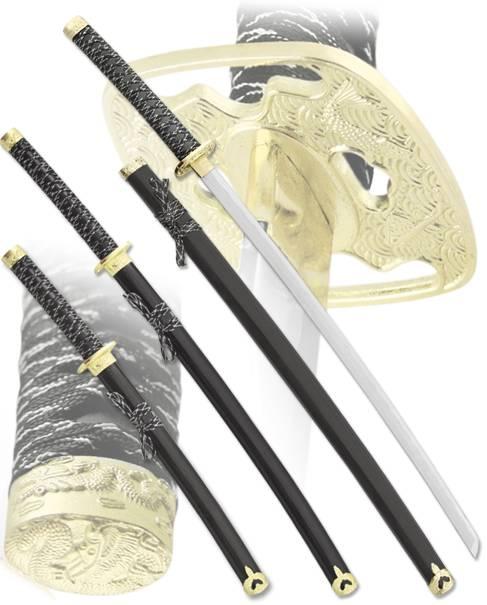 """Набор самурайских мечей """"Клюв журавля"""" Armas del Mundo D-50024-BK-YL"""