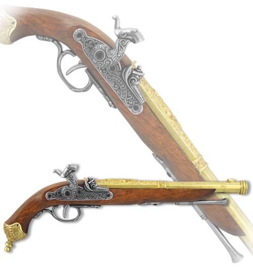 Пистоль итальянский, Брешиа, 1825 год, латунь Denix DE-1013-L