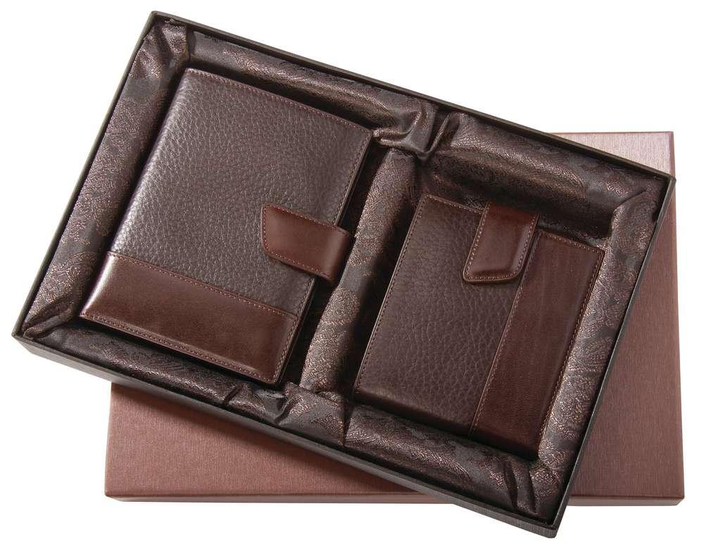 Набор Alvaro: бумажник водителя, портмоне, коричневый Matteo Tantini 4739.50