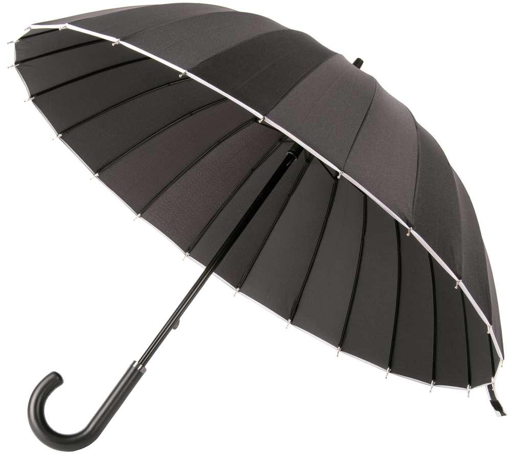 Зонт Ella, черный с белым Matteo Tantini 6115.36