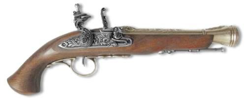 Пистоль системы флинтлок XVIII век Denix DE-1076-L