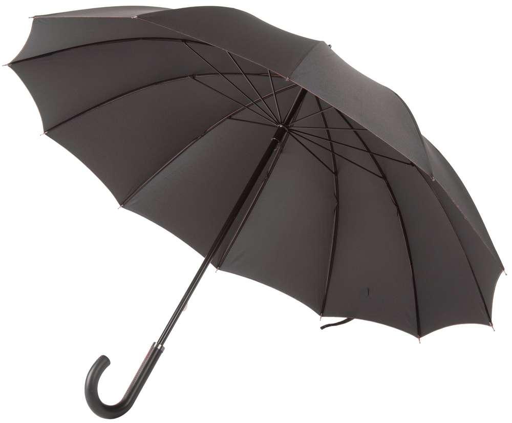 Зонт Lui, черный с красным Matteo Tantini 6116.35