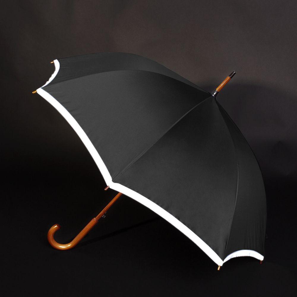 Зонт Unit Reflect, черный 5682.30