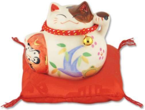"""Японский кот-копилка Манеки-неко """"Долголетие и успех в бизнесе!"""", белый Pak Lee YC-10383-A"""