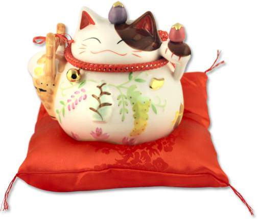 "Японский кот-копилка Манеки-неко ""Удача!"", белый Pak Lee YC-10284-A"