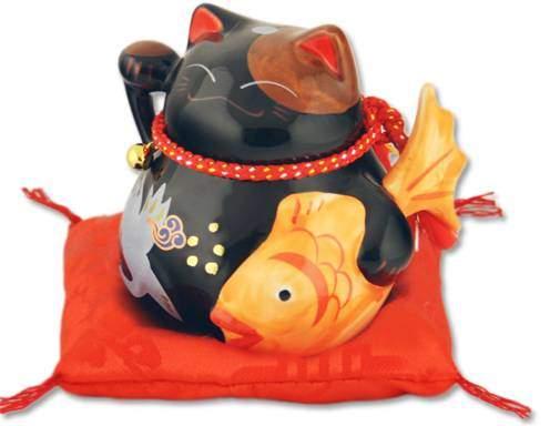 "Японский кот-копилка Манеки-неко ""Долголетие и Благополучие, Защита от зла!"", черный Pak Lee YC-10946-A"