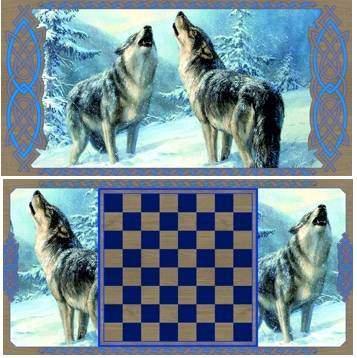 """Нарды """"Волки"""" 40 x 20 x 3.3 livegifts SA-VO-S"""