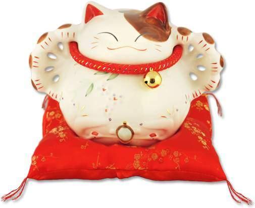 "Японский кот-копилка Манеки-неко ""Много денег, удачи и посетителей!"" Pak Lee YC-10076-A"