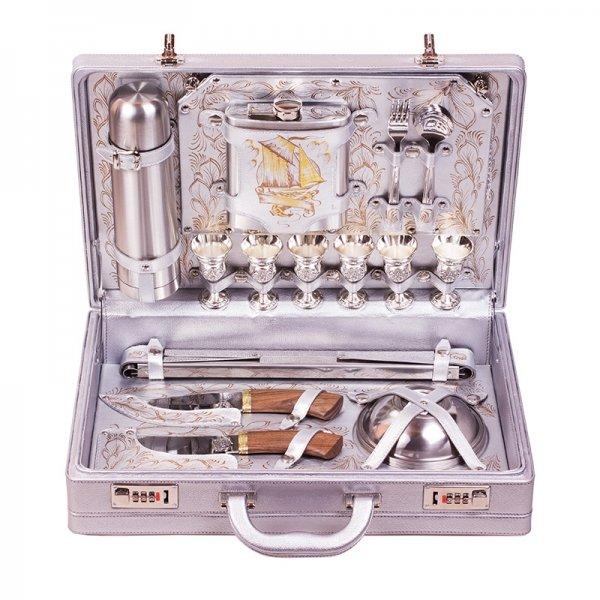 Подарочный набор для пикника «Серебристый парус» (6 персон) Аксо 104КИ6