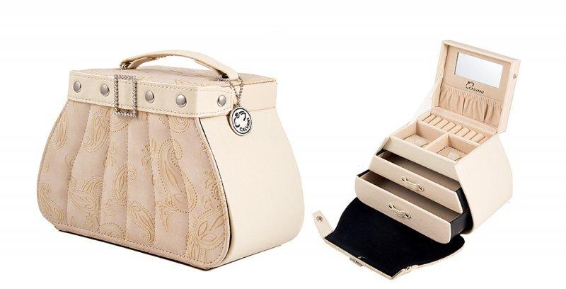 """Шкатулка для ювелирных украшений """"Beige handbag"""" Calvani 83355"""