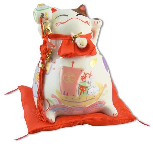 "Японский кот-копилка Манеки-неко ""Успех в бизнесе и удача!"", белый Pak Lee YC-10523-A"
