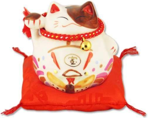 """Японский кот-копилка Манеки-неко """"Благополучие!"""", белый Pak Lee YC-10332-A"""