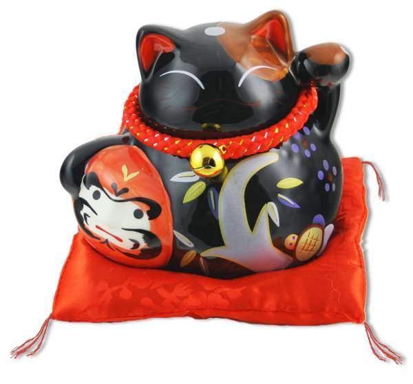 "Японский кот-копилка Манеки-неко ""Долголетие, защита от зла и много посетителей!"" Pak Lee YC-10582-A"