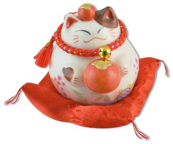"Японский кот-копилка Манеки-неко ""Везение!"", белый Pak Lee YC-10384-A"