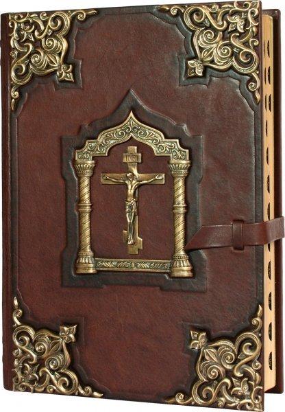 """Книга """"Библия большая с литьем"""" подарочное издание в кожаном переплете livegifts 009(л)"""