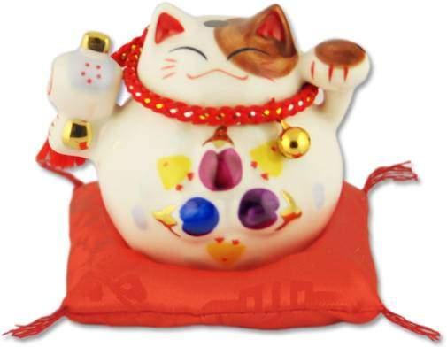 """""""Большая удача!"""" Японский кот-копилка Манеки-неко, белый Pak Lee YC-10330-A"""