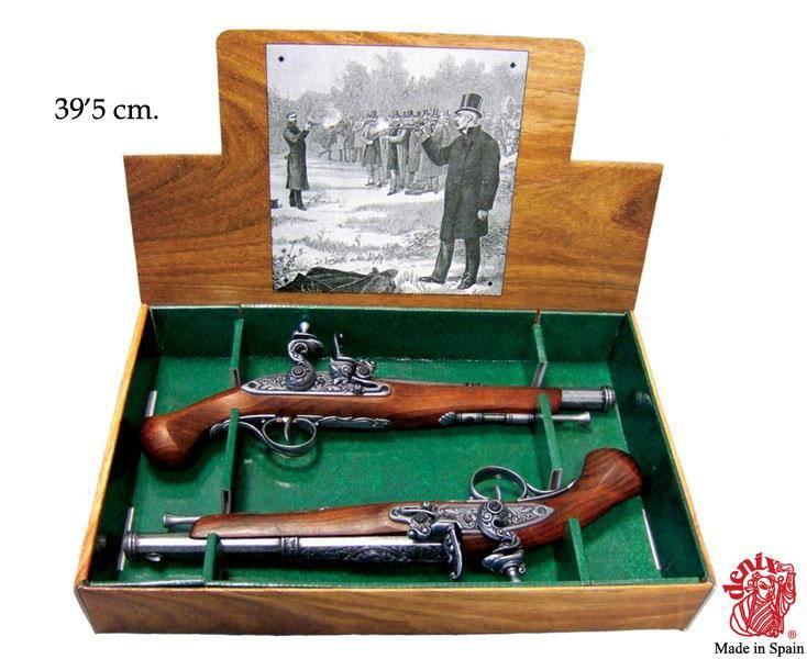 Пистоли дуэльные XVIII века Denix DE-1102-2-G